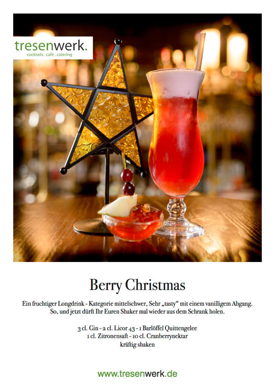 Berry-Christmas Weihnachtscocktail