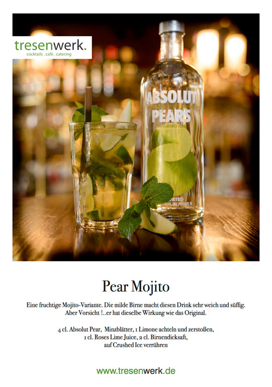 "Tresenwerk Advents Highlight ""Pear-Mojito"""